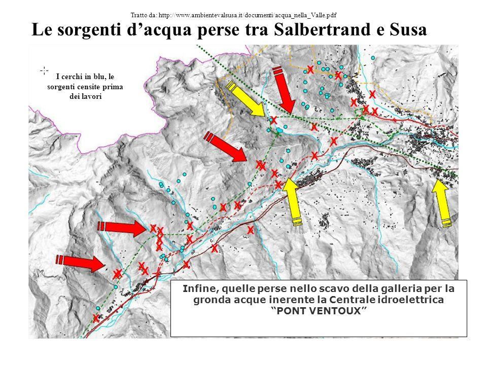 Le sorgenti d'acqua perse tra Salbertrand e Susa