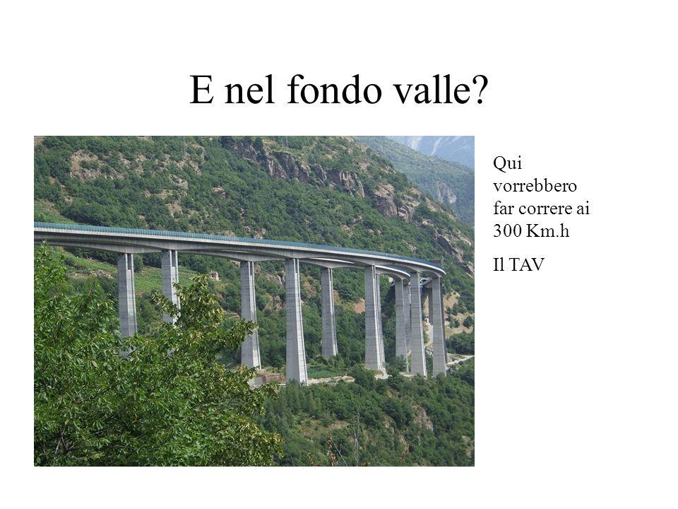 E nel fondo valle Qui vorrebbero far correre ai 300 Km.h Il TAV