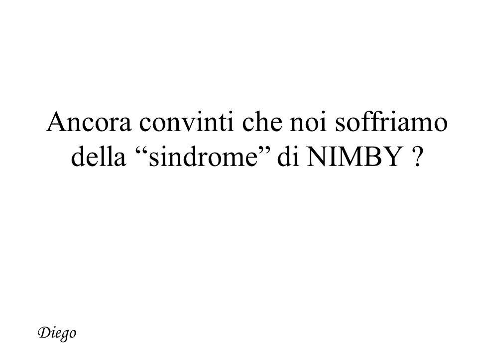 Ancora convinti che noi soffriamo della sindrome di NIMBY