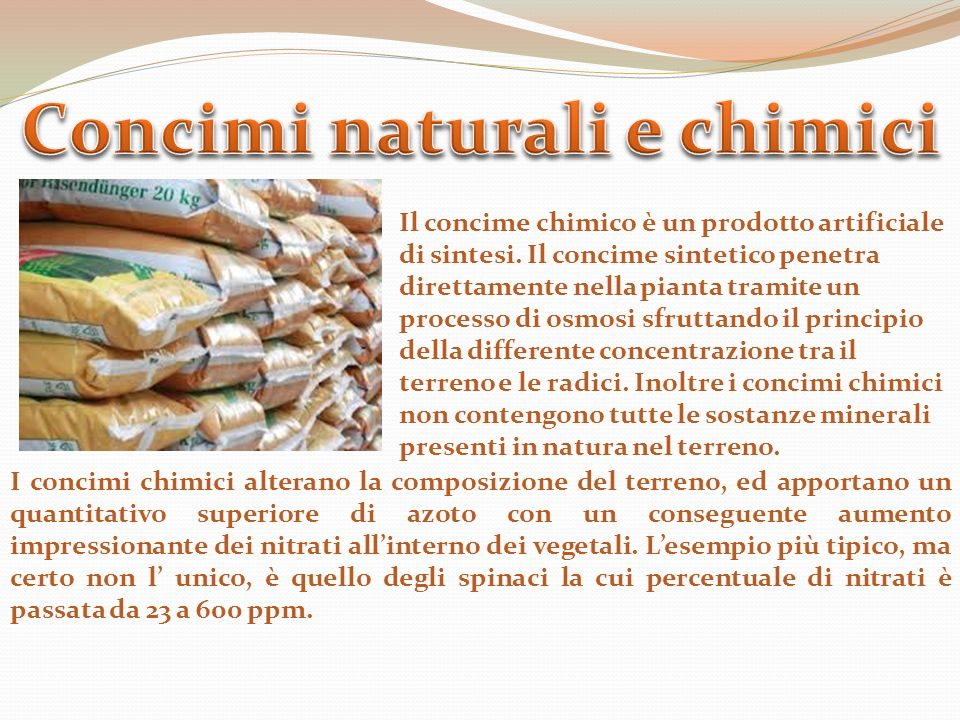 Concimi naturali e chimici