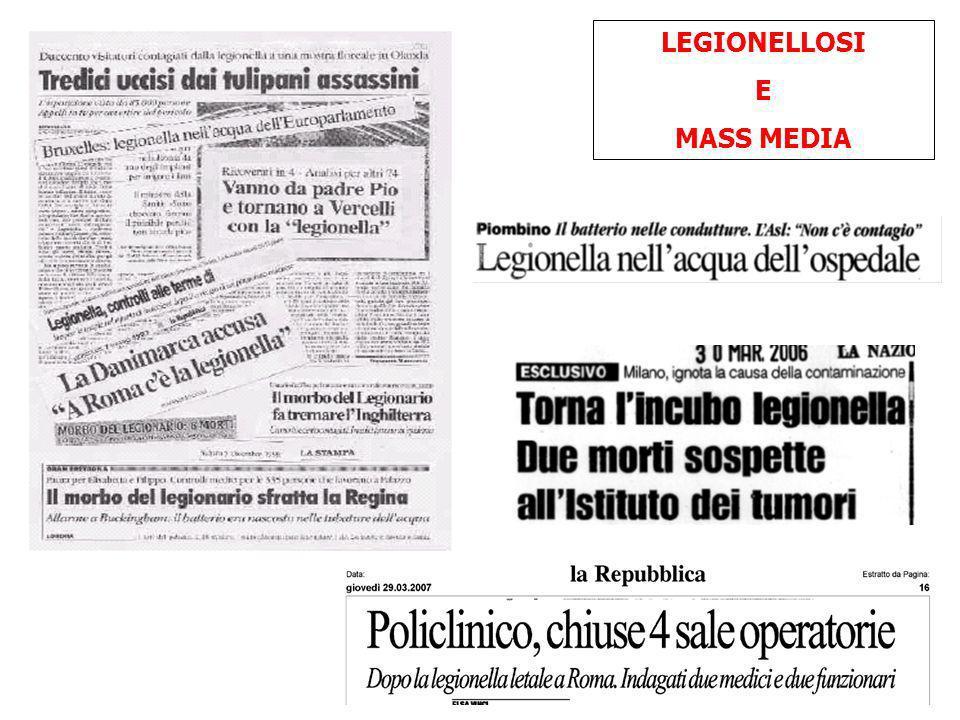 LEGIONELLOSI E MASS MEDIA