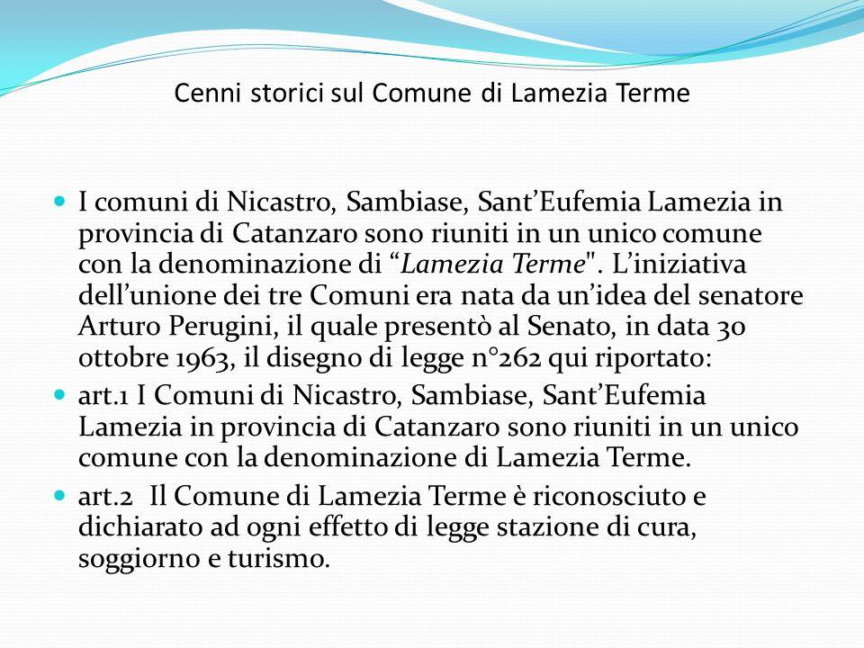 Cenni storici sul Comune di Lamezia Terme