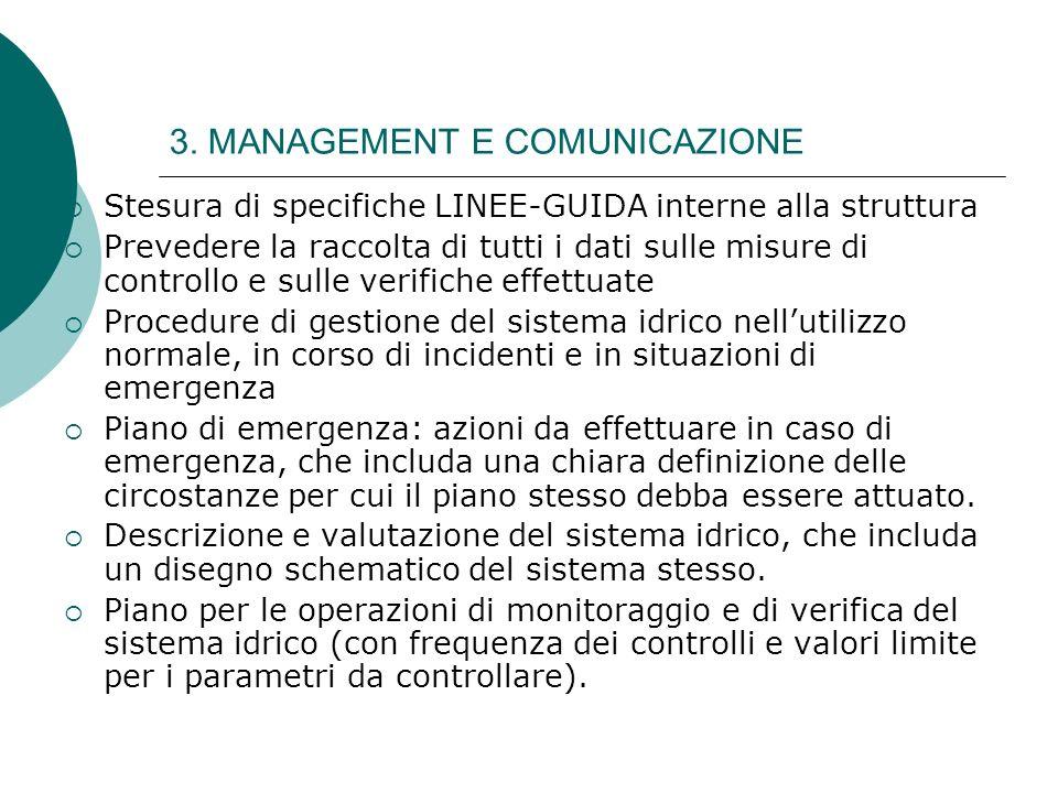 3. MANAGEMENT E COMUNICAZIONE