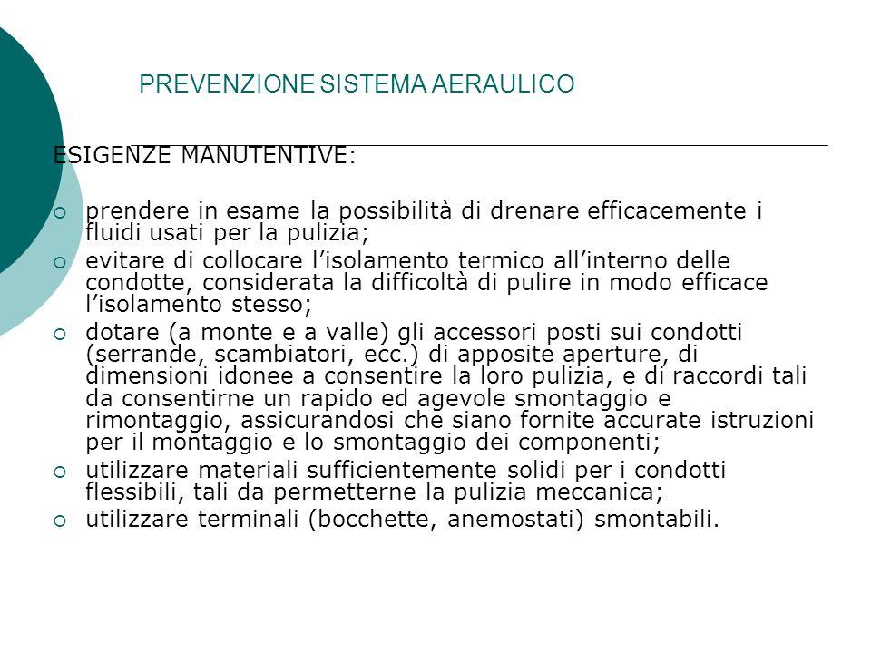 PREVENZIONE SISTEMA AERAULICO