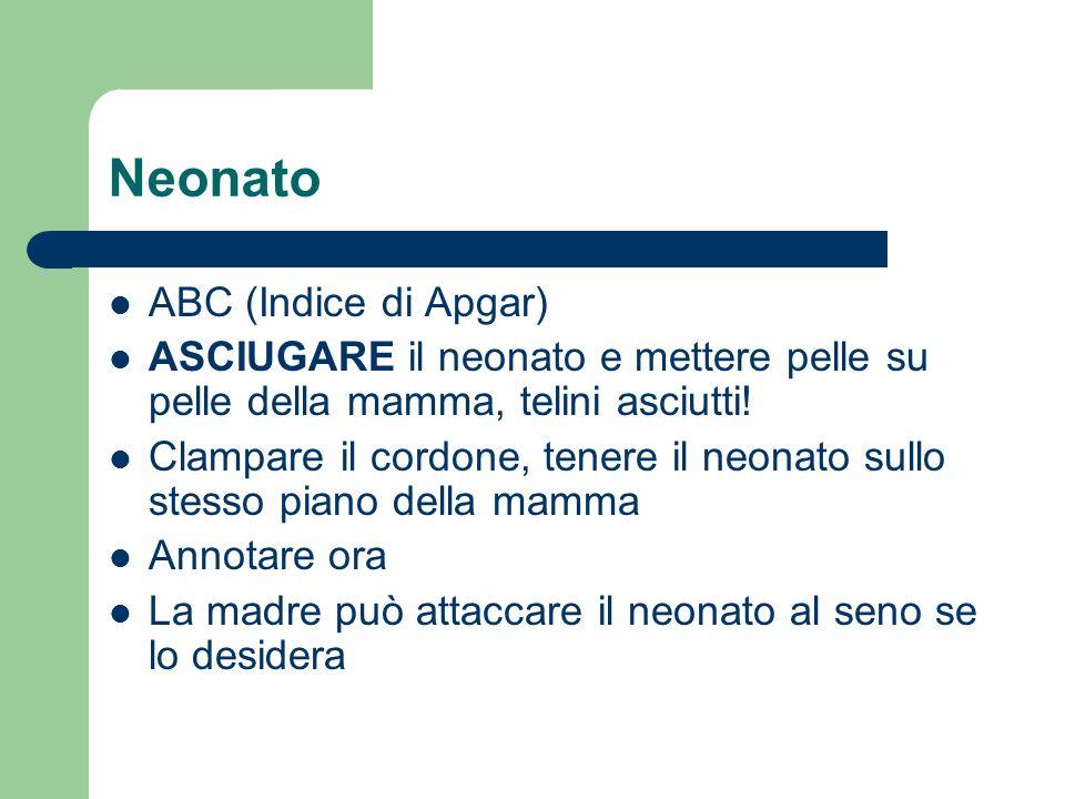 Neonato ABC (Indice di Apgar)