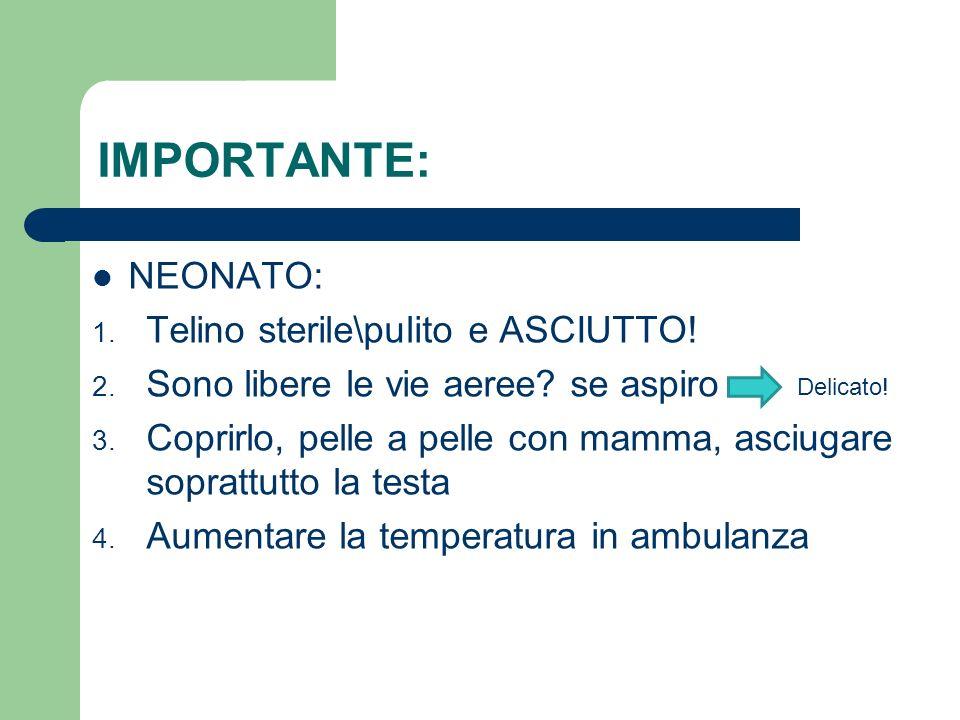 IMPORTANTE: NEONATO: Telino sterile\pulito e ASCIUTTO!