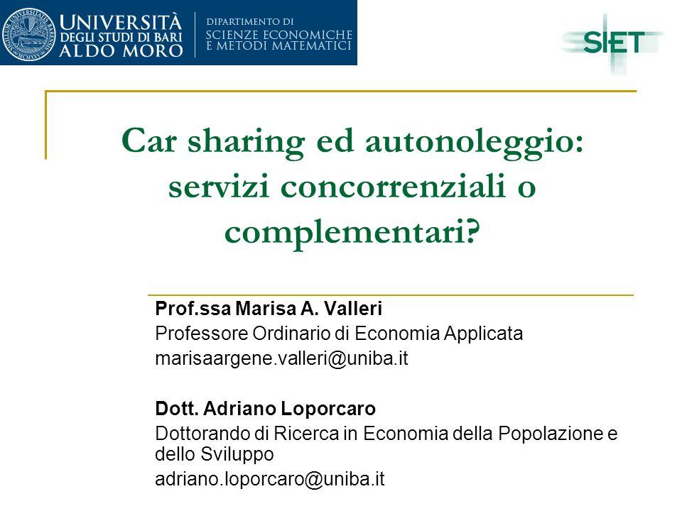 Car sharing ed autonoleggio: servizi concorrenziali o complementari