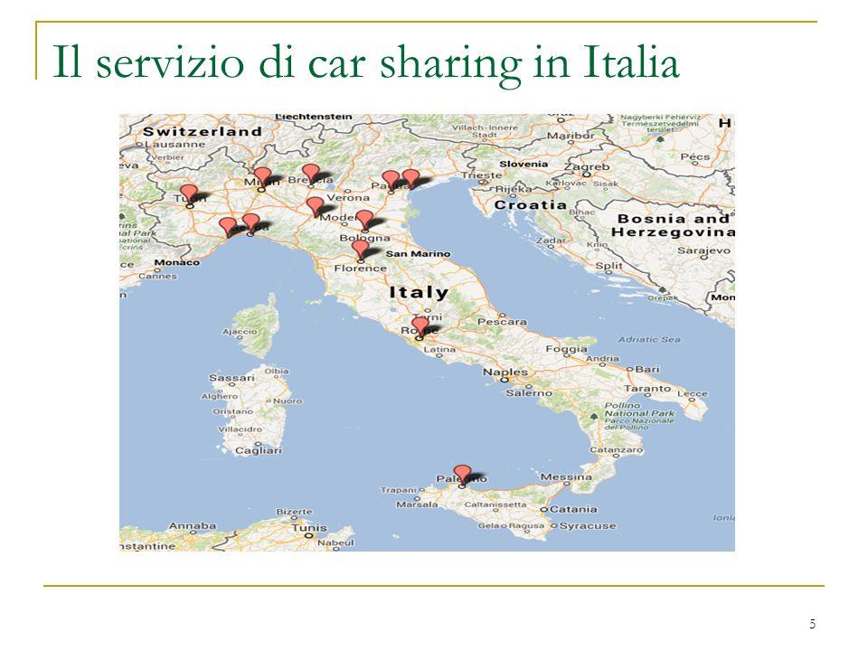 Il servizio di car sharing in Italia