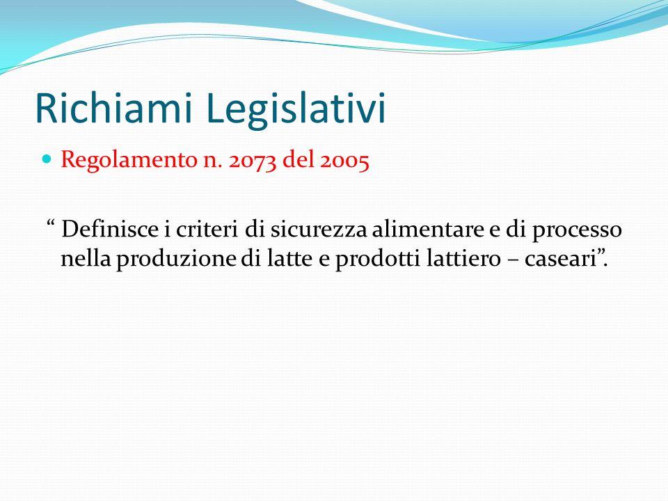 Richiami Legislativi Regolamento n. 2073 del 2005