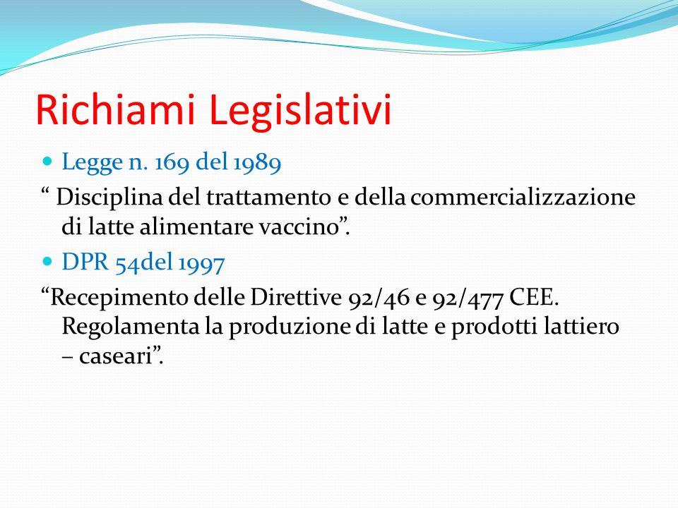 Richiami Legislativi Legge n. 169 del 1989