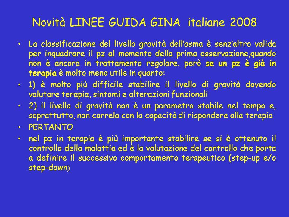Novità LINEE GUIDA GINA italiane 2008