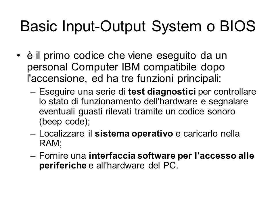 Basic Input-Output System o BIOS