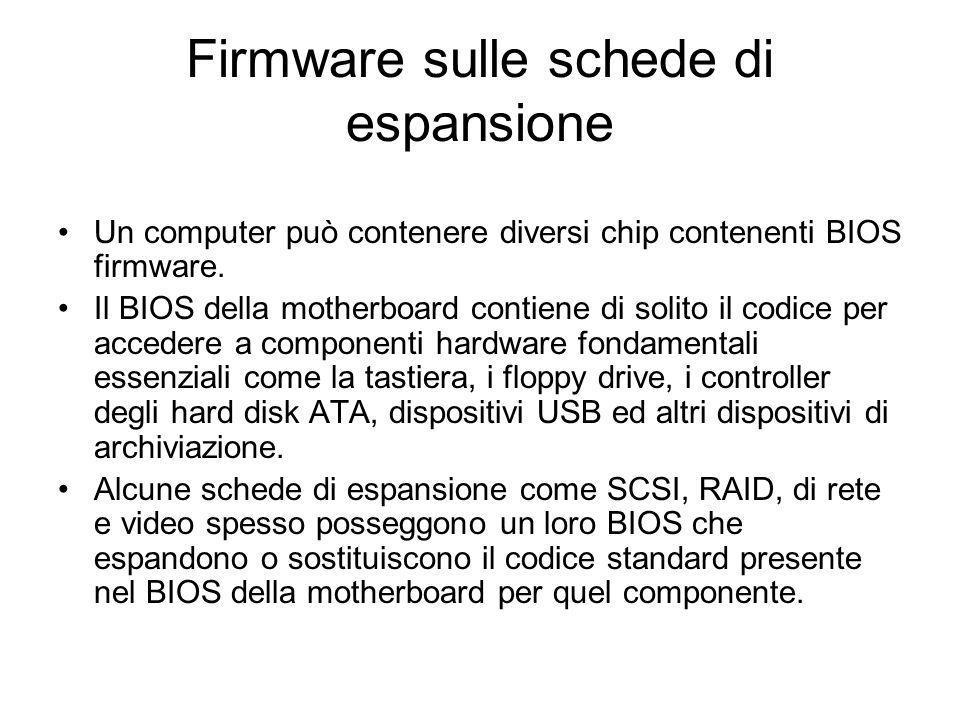 Firmware sulle schede di espansione