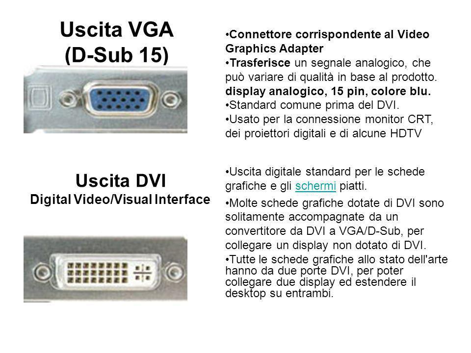 Uscita DVI Digital Video/Visual Interface