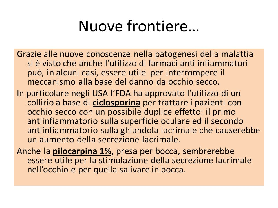 Nuove frontiere…