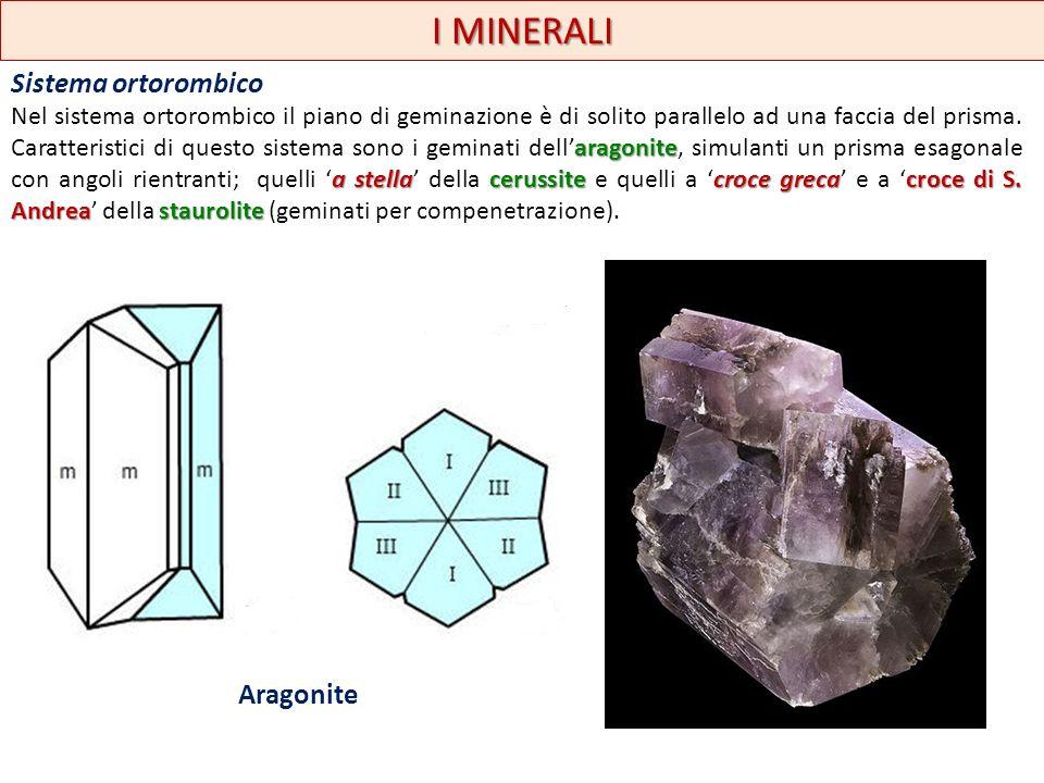 I MINERALI Sistema ortorombico Aragonite