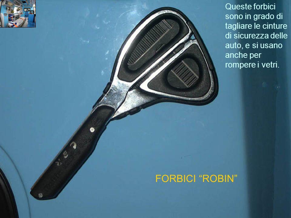 Queste forbici sono in grado di tagliare le cinture di sicurezza delle auto, e si usano anche per rompere i vetri.