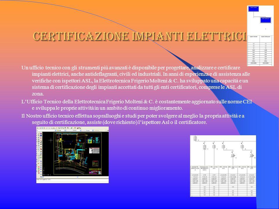 Certificazione impianti elettrici