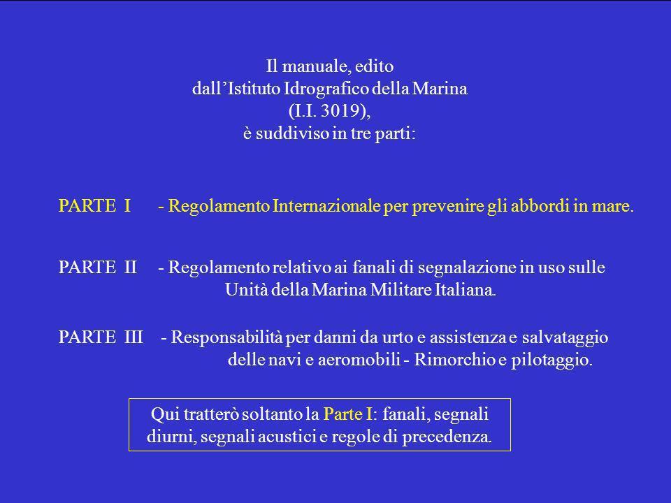 Il manuale, edito dall'Istituto Idrografico della Marina (I. I