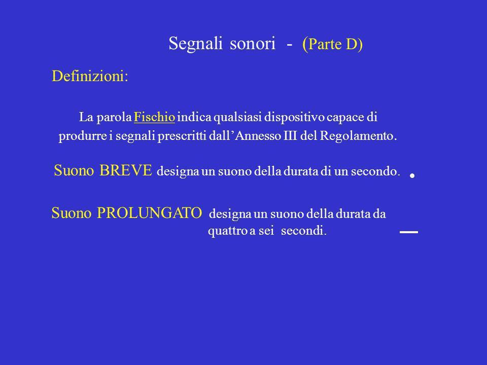 Segnali sonori - (Parte D)