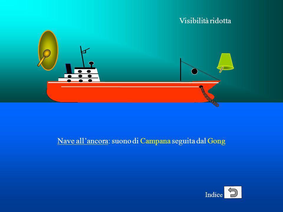 Nave all'ancora: suono di Campana seguita dal Gong
