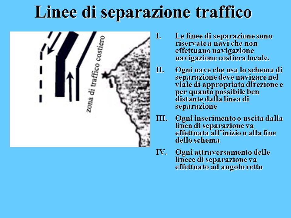 Linee di separazione traffico