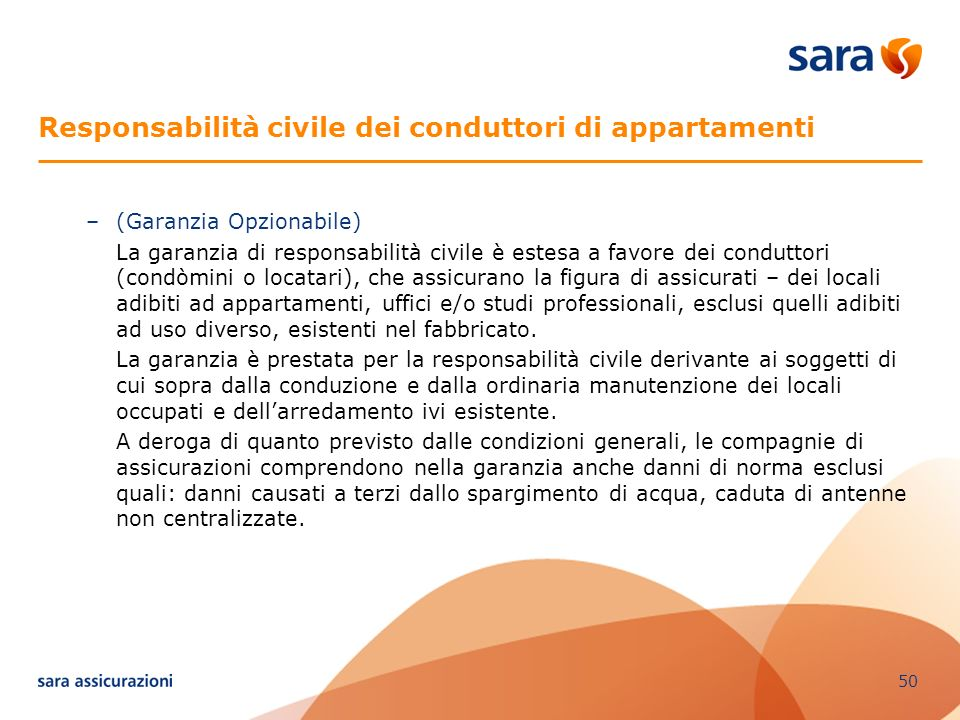 Responsabilità civile dei conduttori di appartamenti