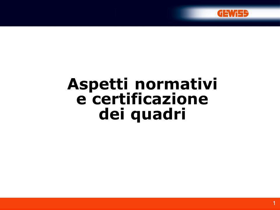 Aspetti normativi e certificazione dei quadri