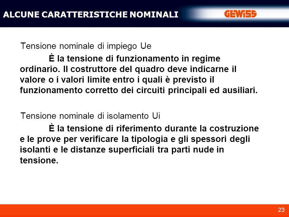 Tensione nominale di impiego Ue