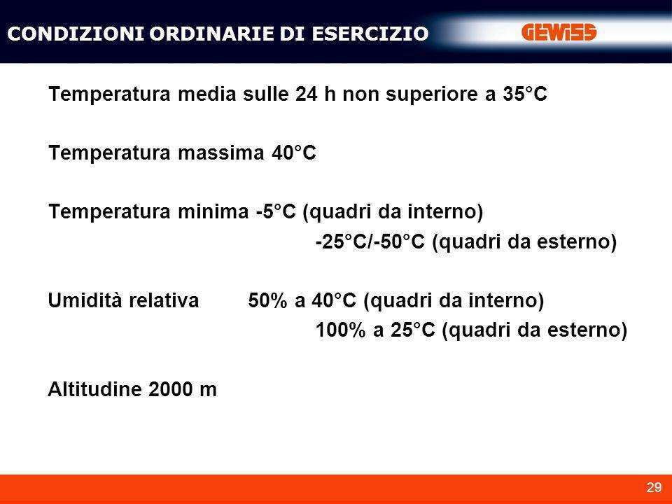Temperatura media sulle 24 h non superiore a 35°C