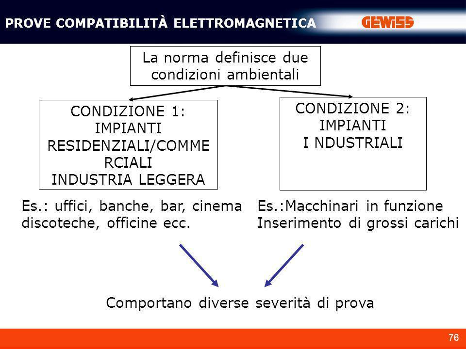 PROVE COMPATIBILITÀ ELETTROMAGNETICA