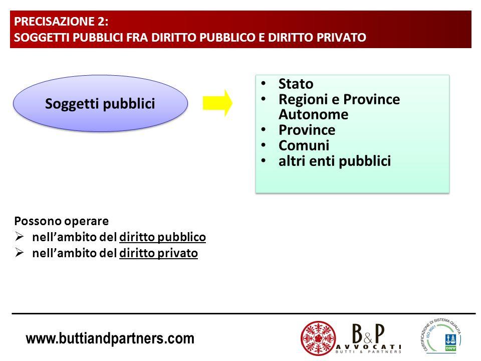 Regioni e Province Autonome Province Comuni altri enti pubblici
