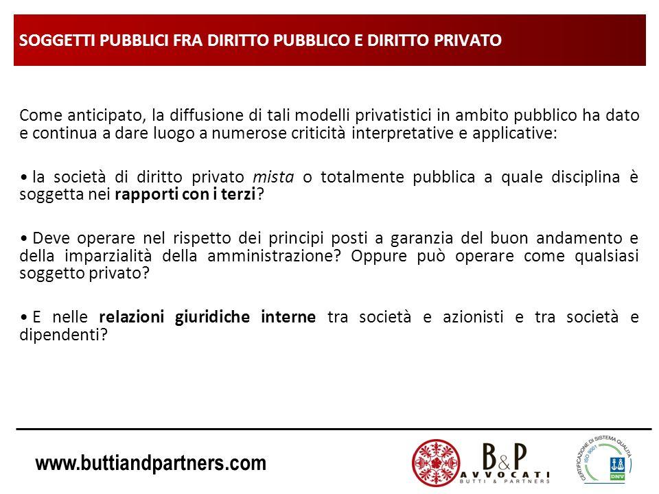 SOGGETTI PUBBLICI FRA DIRITTO PUBBLICO E DIRITTO PRIVATO