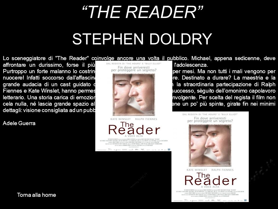 THE READER STEPHEN DOLDRY