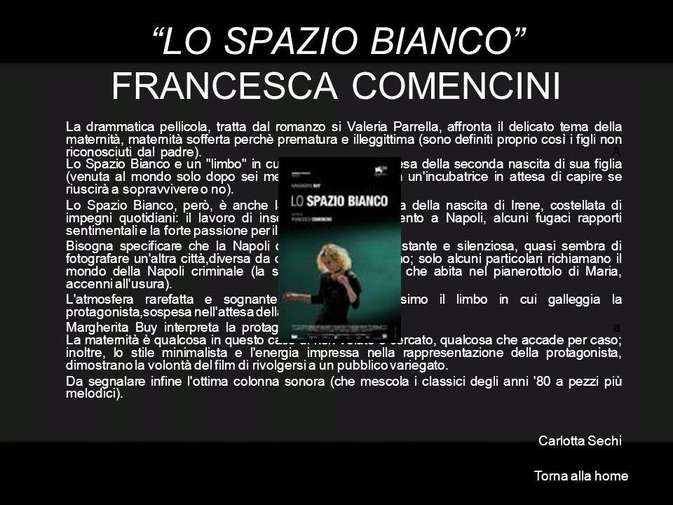 LO SPAZIO BIANCO FRANCESCA COMENCINI