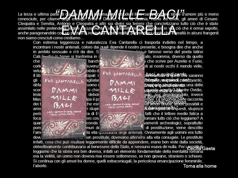 DAMMI MILLE BACI EVA CANTARELLA