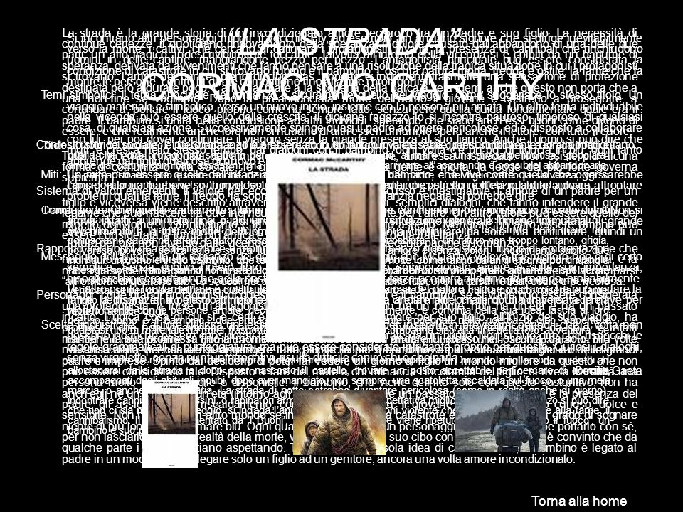 LA STRADA CORMAC MC CARTHY