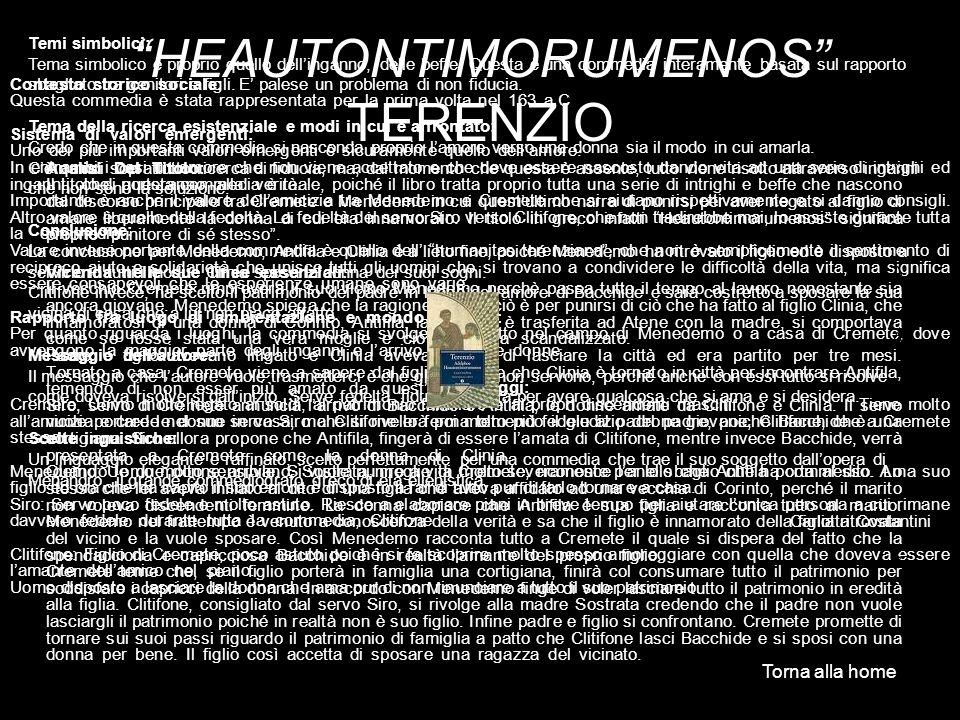 HEAUTONTIMORUMENOS TERENZIO
