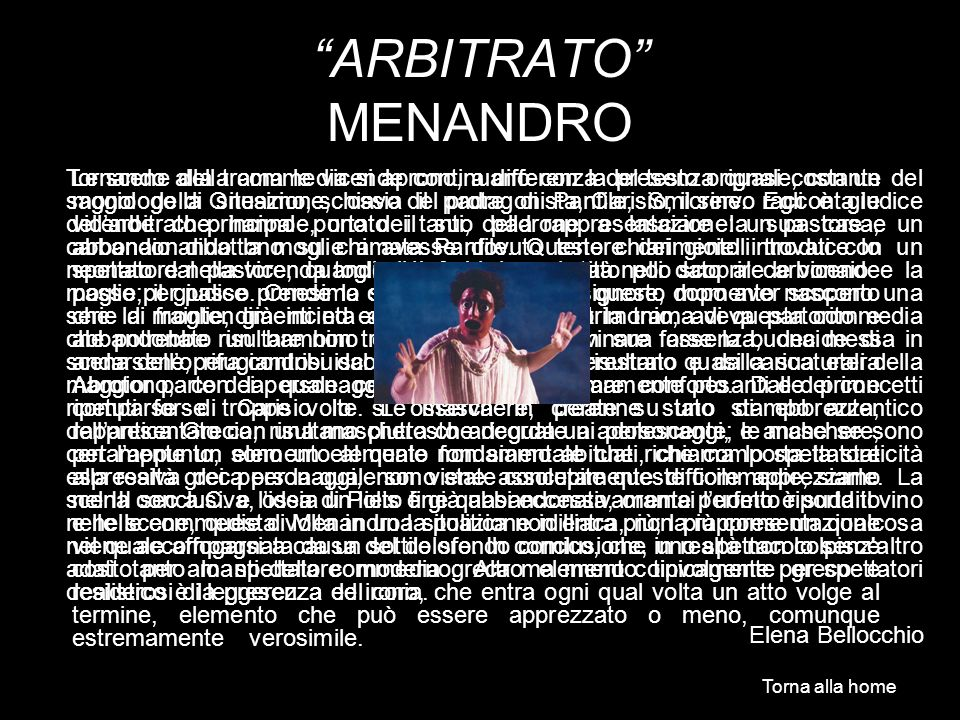 ARBITRATO MENANDRO