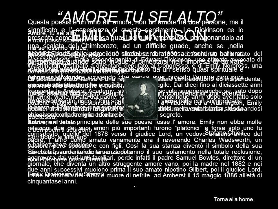AMORE TU SEI ALTO EMILY DICKINSON