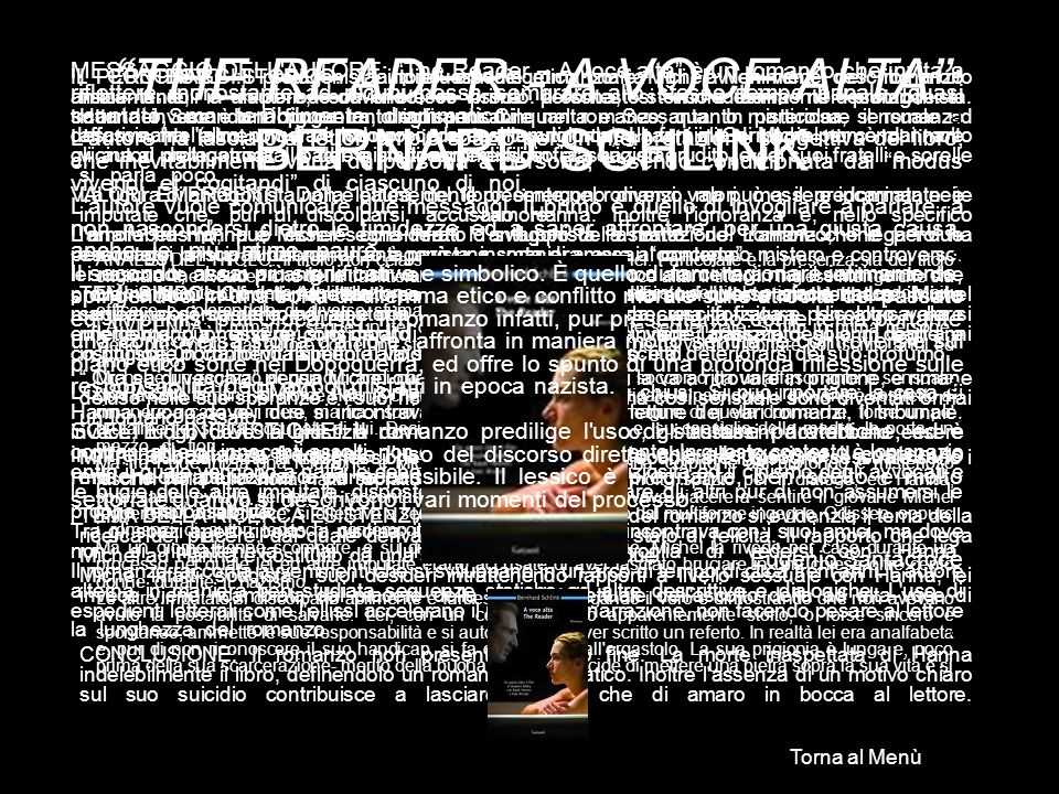 THE READER - A VOCE ALTA BERNARD SCHLINK