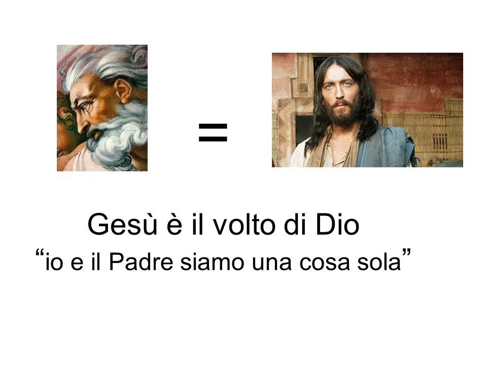 Gesù è il volto di Dio io e il Padre siamo una cosa sola