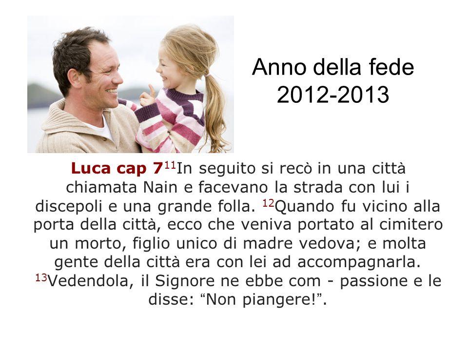 Anno della fede 2012-2013