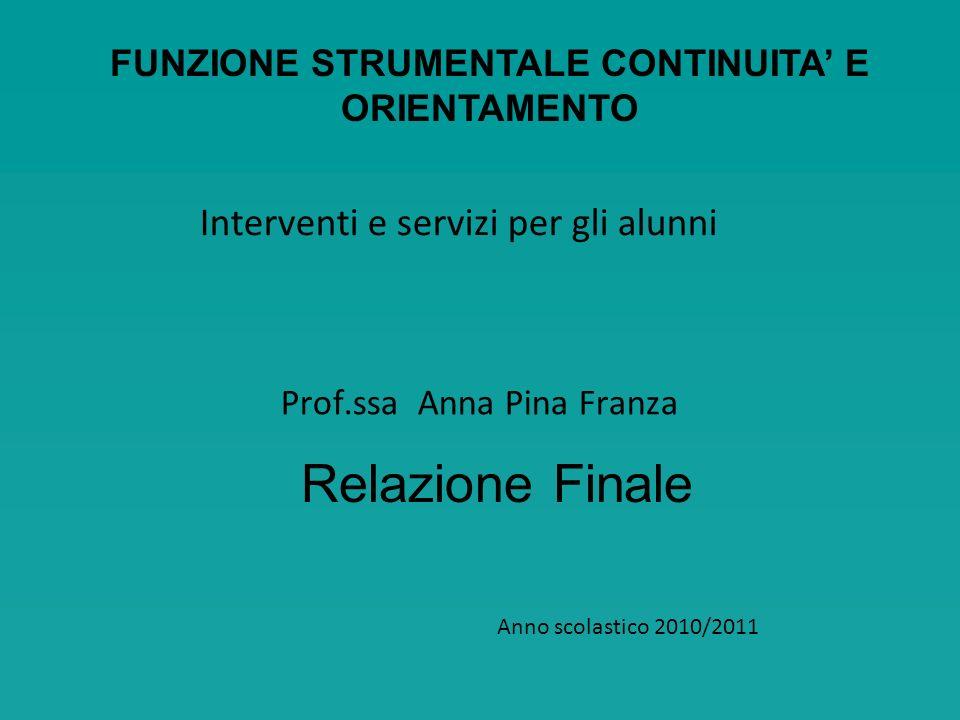 Prof.ssa Anna Pina Franza