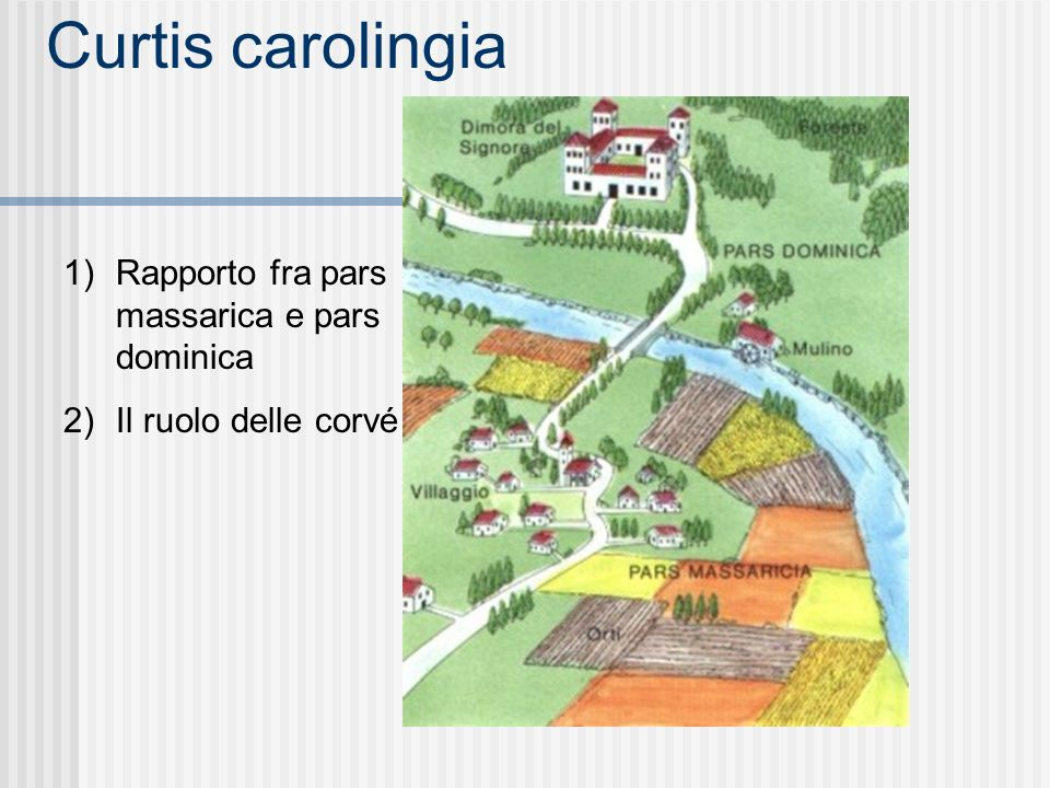 Curtis carolingia Rapporto fra pars massarica e pars dominica