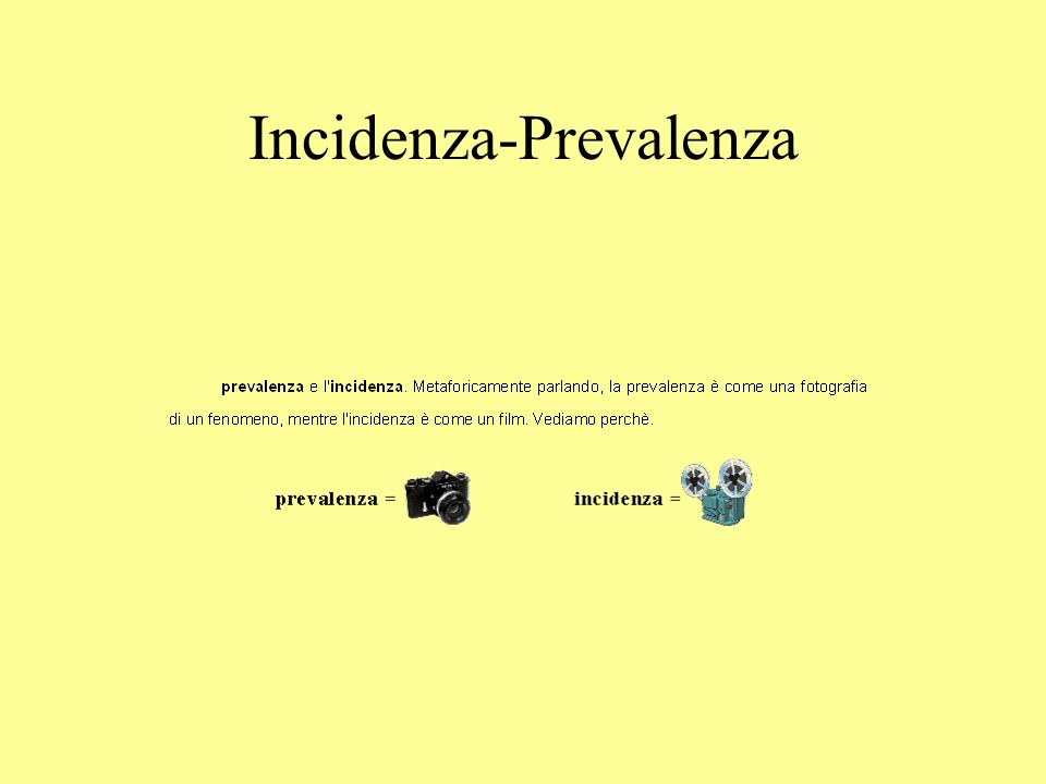Incidenza-Prevalenza