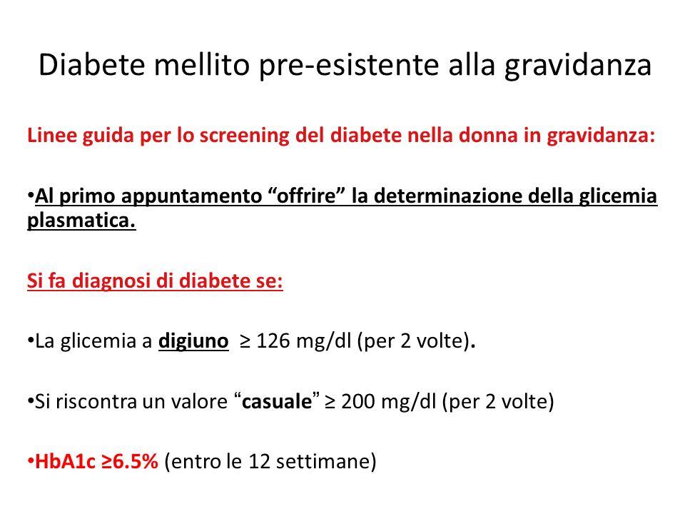 Diabete mellito pre-esistente alla gravidanza
