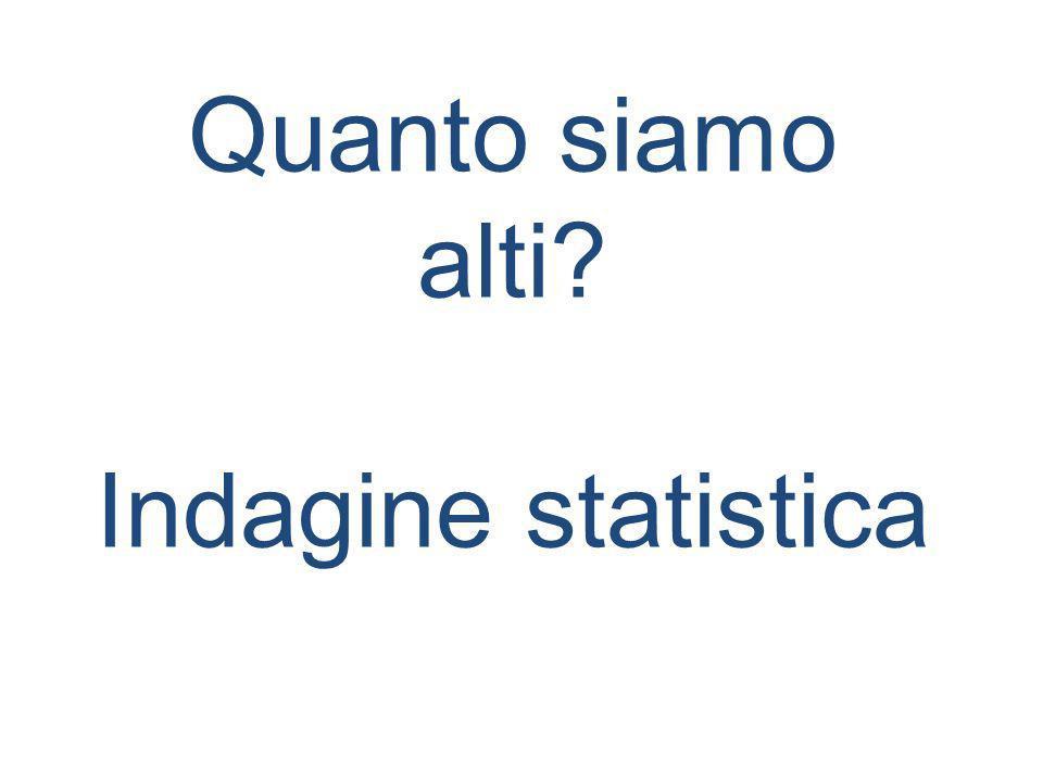 Quanto siamo alti Indagine statistica