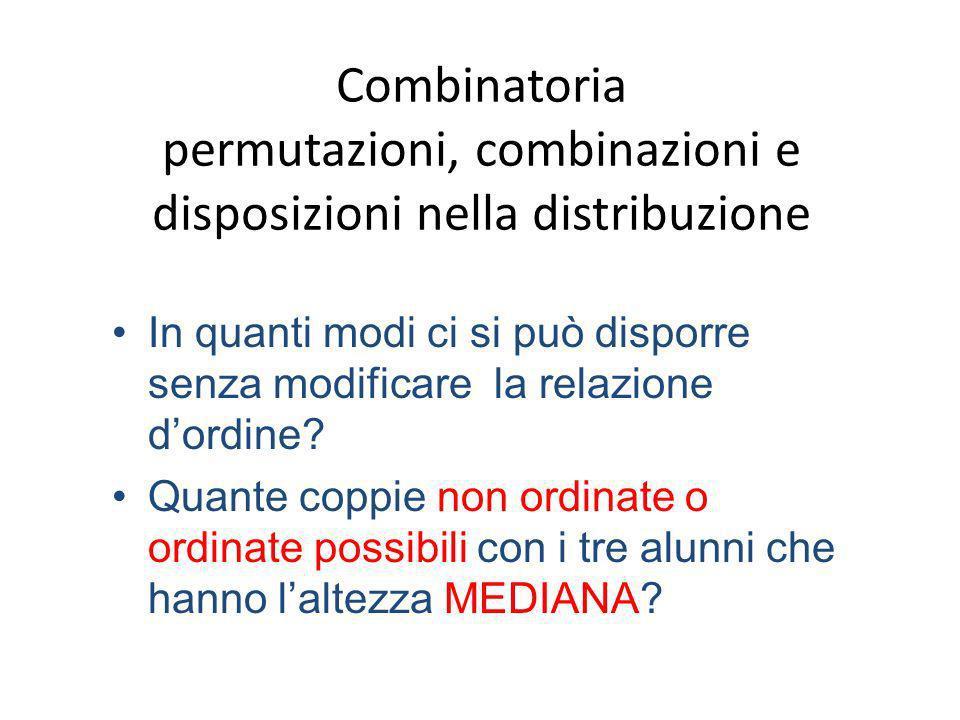Combinatoria permutazioni, combinazioni e disposizioni nella distribuzione