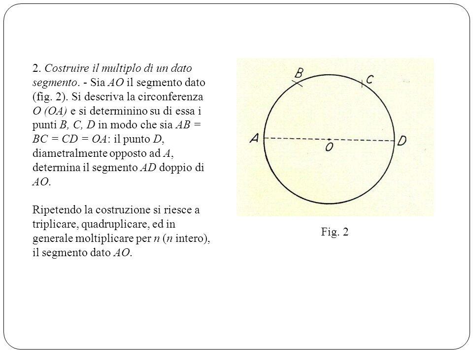 2. Costruire il multiplo di un dato segmento